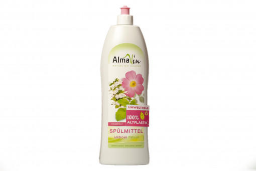 Almawin öko kézi mosogatószer koncentrátum vadrózsa & citromfű (Wilde Rose Melisse Washing Up Concentrate)