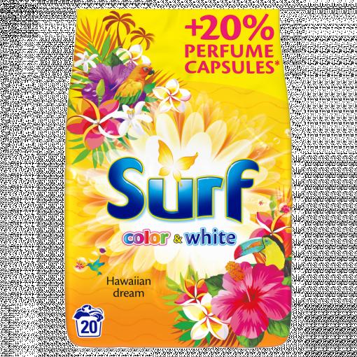 SURF Color & White Hawaiian Dream Mosópor 1,3 kg (Washing Powder)